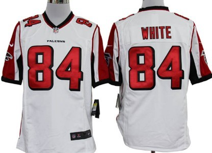 Nike Atlanta Falcons #84 Roddy White White Game Jersey