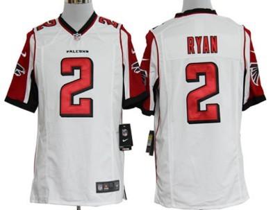 Nike Atlanta Falcons #2 Matt Ryan White Game Jersey