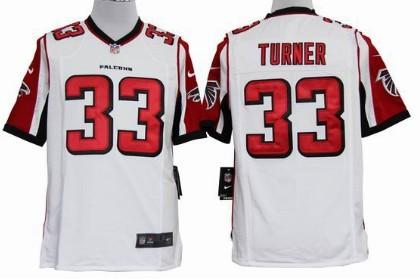 Nike Atlanta Falcons #33 Michael Turner White Game Jersey