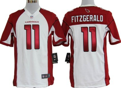 Nike Arizona Cardinals #11 Larry Fitzgerald White Game Jersey