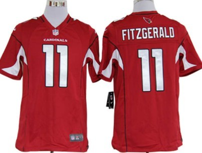 Nike Arizona Cardinals #11 Larry Fitzgerald Red Game Jersey