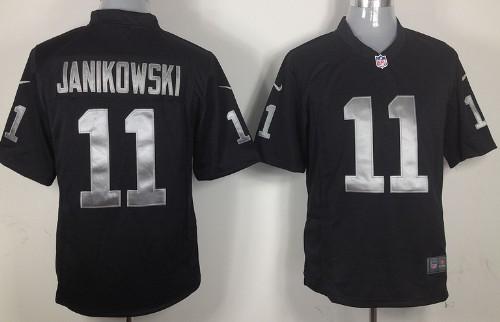 Nike Oakland Raiders #11 Sebastian Janikowski Black Game Jersey