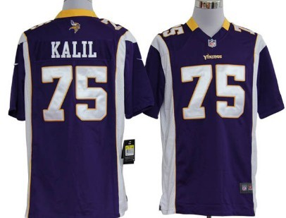Nike Minnesota Vikings #75 Matt Kalil Purple Game Jersey