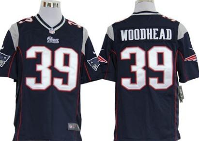Nike New England Patriots #39 Danny Woodhead Blue Game Jersey