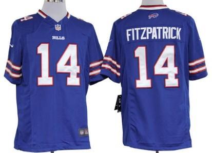 Nike Buffalo Bills #14 Ryan Fitzpatrick Light Blue Game Jersey