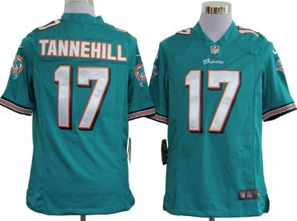 Nike NFL Miami Dolphins #17 Ryan Tannehill Green Game Jersey
