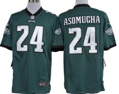 Nike Philadelphia Eagles #24 Nnamdi Asomugha Dark Green Game Jersey