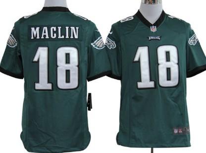 Nike Philadelphia Eagles #18 Jeremy Maclin Dark Green Game Jersey
