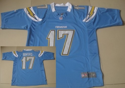 Nike San Diego Chargers #17 Philip Rivers Light Blue Game Jersey