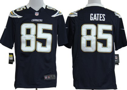 Nike San Diego Chargers #85 Antonio Gates Navy Blue Game Jersey