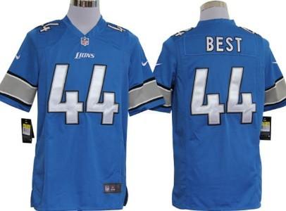 Nike Detroit Lions#44 Jahvid Best Light Blue Game Jersey