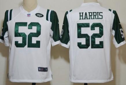 Nike New York Jets #52 David Harris White Game Jersey