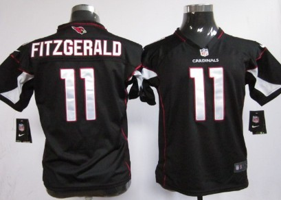 Nike Arizona Cardinals #11 Larry Fitzgerald Black Game Kids Jersey