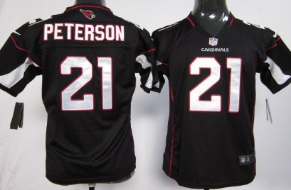 Nike Arizona Cardinals #21 Patrick Peterson Black Game Kids Jersey