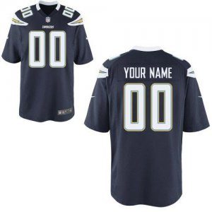 Nike NFL San Diego Chargers Customized Game Team Color Navy Blue Jersey