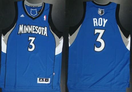 Minnesota Timberwolves #3 Brandon Roy Revolution 30 Swingman Blue Jersey