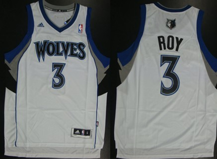 Minnesota Timberwolves #3 Brandon Roy Revolution 30 Swingman White Jersey