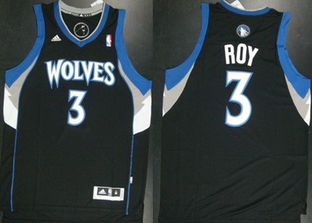 Minnesota Timberwolves #3 Brandon Roy Revolution 30 Swingman Black Jersey