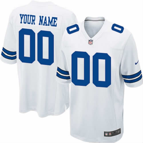 Nike Dallas Cowboys Customized Game White NFL Jersey