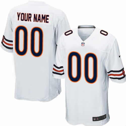 Nike NFL Chicago Bears Customized Game White Jersey
