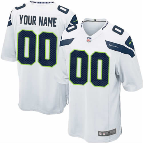 Nike Seattle Seahawks Customized Game White NFL Jersey