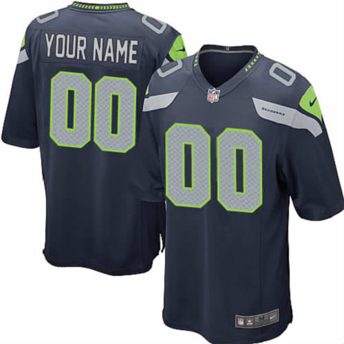 Nike Seattle Seahawks Customized Game Blue NFL Jersey