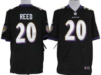 Nike Baltimore Ravens #20 Ed Reed Black Game Jersey