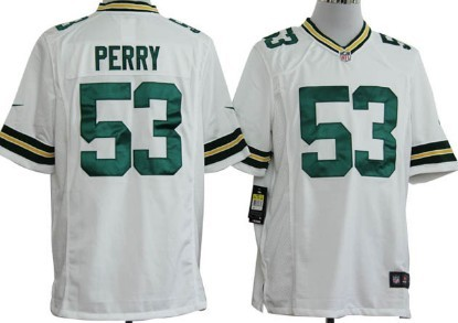 Nike Green Bay Packers #53 Nick Perry White Game Jersey