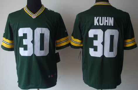Nike Green Bay Packers #30 John Kuhn Green Game Jersey