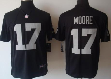 Nike Oakland Raiders #17 Denarius Moore Black Game Jersey