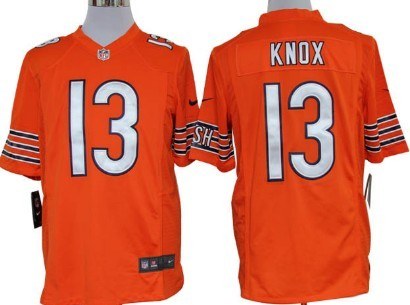 Nike Chicago Bears #13 Johnny Knox Orange Game Jersey