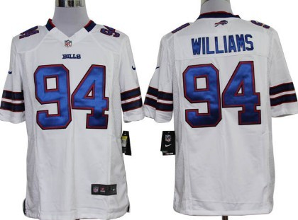 Nike Buffalo Bills #94 Mario Williams White Game Jersey