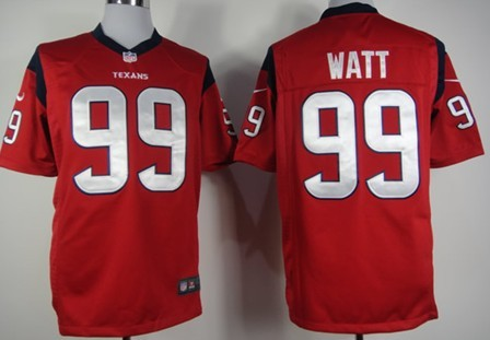 Nike Houston Texans #99 J.J. Watt Red Game Jersey