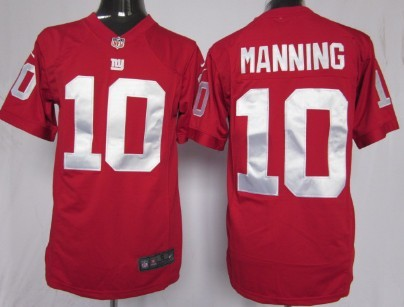 Nike New York Giants #10 Eli Manning Red Game Jersey