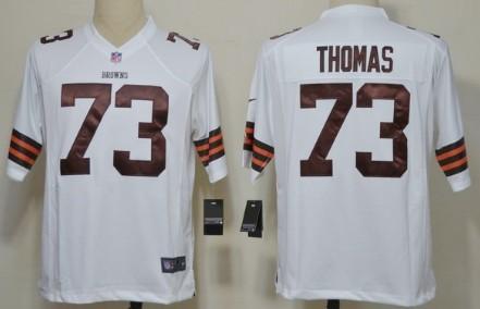 Nike Cleveland Browns #73 Joe Thomas White Game Jersey