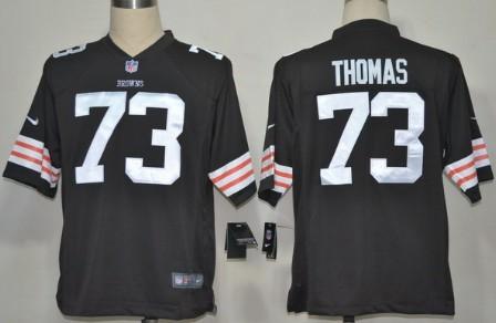 Nike Cleveland Browns #73 Joe Thomas Brown Game Jersey