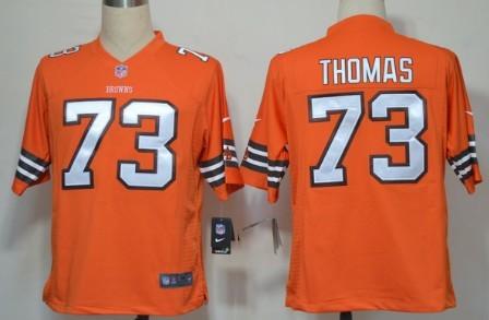 Nike Cleveland Browns #73 Joe Thomas Orange Game Jersey