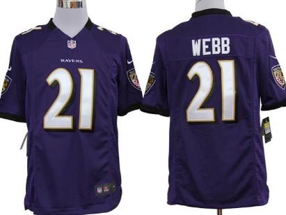 Nike Baltimore Ravens #21 Lardarius Webb Purple Game Jersey