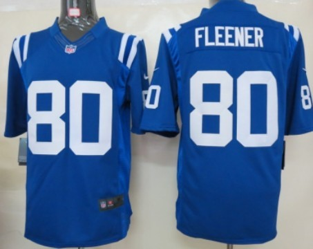 Nike Indianapolis Colts #80 Coby Fleener Blue Game Jersey