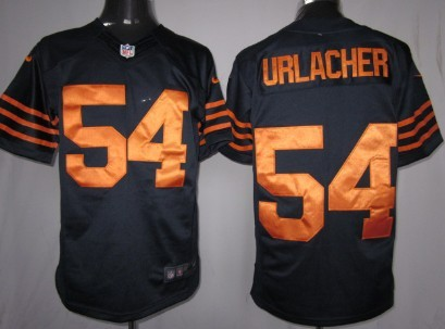 Nike Chicago Bears #54 Brian Urlacher Blue With Orange Game Jersey