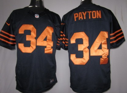 Nike Chicago Bears #34 Walter Payton Blue With Orange Game Jersey