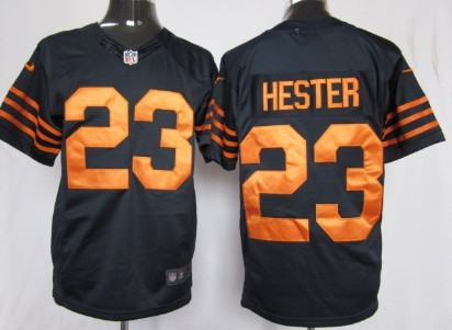 Nike Chicago Bears #23 Devin Hester Blue With Orange Game Jersey