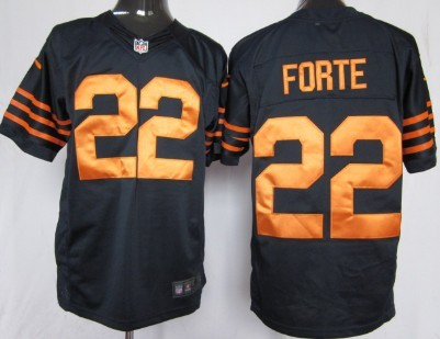 Nike Chicago Bears #22 Matt Forte Blue With Orange Game Jersey
