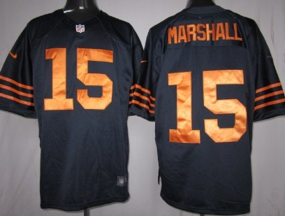 Nike Chicago Bears #15 Brandon Marshall Blue With Orange Game Jersey