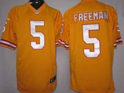 Nike Tampa Bay Buccaneers #5 Josh Freeman Orange Game Jersey