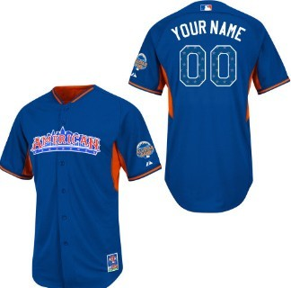 Kids American League Customized 2013 All-Star Blue Jersey