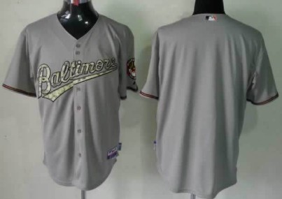Kids Baltimore Orioles Customized Gray With Camo Jersey
