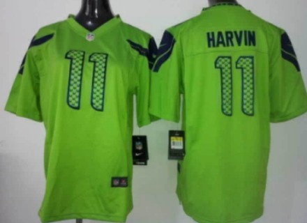 Nike Seattle Seahawks #11 Percy Harvin Green Game Jersey