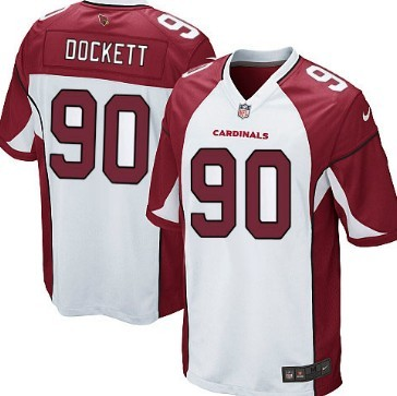 Nike Arizona Cardinals #90 Darnell Dockett White Game Jersey