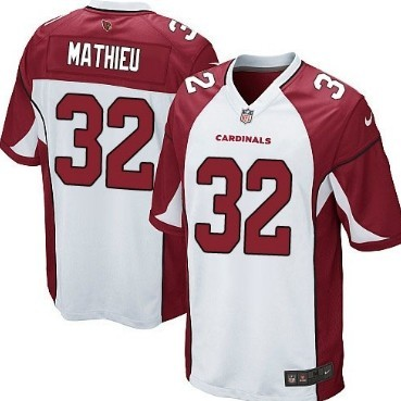 Nike Arizona Cardinals #32 Tyrann Mathieu White Game Jersey
